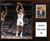 "NBA 12""x15"" Deron Williams Brooklyn Nets Player Plaque"