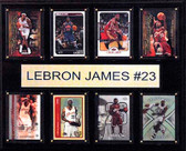 "NBA 12""x15"" LeBron James Cleveland Cavaliers 8-Card Plaque"