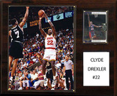 "NBA 12""x15"" Clyde Drexler Houston Rockets Player Plaque"