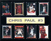 "NBA 12""x15"" Chris Paul Los Angeles Clippers 8-Card Plaque"