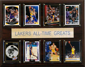 "NBA 12""x15"" Los Angeles Lakers All-Time Greats Plaque"