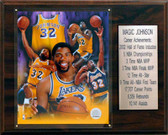 "NBA 12""x15"" Magic Johnson Los Angeles Lakers Career Stat Plaque"