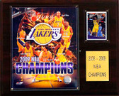 "NBA 12""x15"" Los Angeles Lakers 2009 NBA Champions Plaque"