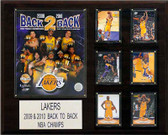 "NBA 16""x20"" Los Angeles Lakers Back-to-Back NBA Champions Plaque"