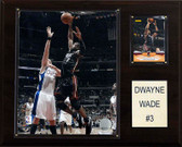 "NBA 12""x15"" Dwyane Wade Miami Heat Player Plaque"