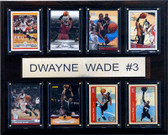 "NBA 12""x15"" Dwyane Wade Miami Heat 8 Card Plaque"