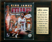 "NBA 12""x15"" LeBron James Miami Heat 2011-12 MVP Plaque"