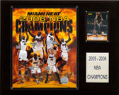 "NBA 12""x15"" Miami Heat 2006 NBA Champions Plaque"