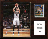 "NBA 12""x15"" Ricky Rubio Minnesota Timberwolves Player Plaque"