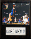 "NBA 12""x15"" Carmelo Anthony New York Knicks Player Plaque"