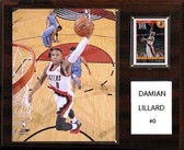 "NBA 12""x15"" Damian Lillard Portland Trail Blazers Player Plaque"