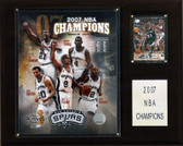 "NBA 12""x15"" San Antonio Spurs 2007 NBA Champions Plaque"