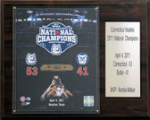 "NCAA Basketball 12""x15"" Connecticut Huskies 2011 National Champions Plaque"