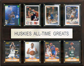 "NCAA Basketball 12""x15"" Connecticut Huskies All-Time Greats Plaque"