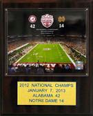 "NCAA Football 12""x15"" Alabama Crimson Tide 2012 BCS National Champions Plaque"