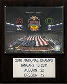 "NCAA Football 12""x15"" Auburn Tigers 2010 BCS National Champions Plaque"