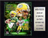"NFL 12""x15"" Aaron Rodgers 2014 NFL MVP Green Bay Packers Player Plaque"