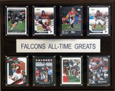 "NFL 12""x15"" Atlanta Falcons All-Time Greats Plaque"