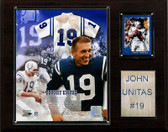 "NFL 12""x15"" Johnny Unitas Baltimore Colts Player Plaque"
