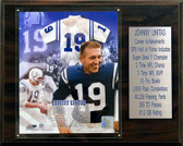 "NFL 12""x15"" Johnny Unitas Baltimore Colts Career Stat Plaque"