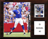 "NFL 12""x15"" E.J. Manuel Buffalo Bills Player Plaque"