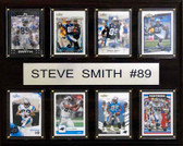 "NFL 12""x15"" Steve Smith Carolina Panthers 8 Card Plaque"