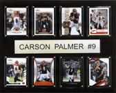 """NFL 12""""x15"""" Carson Palmer Cincinnati Bengals 8 Card Plaque"""
