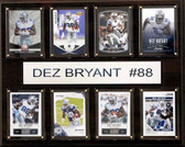 "NFL 12""x15"" Dez Bryant Dallas Cowboys 8-Card Plaque"