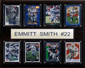 "NFL 12""x15"" Emmitt Smith Dallas Cowboys 8 Card Plaque"
