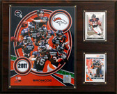 "NFL 12""x15"" Denver Broncos 2011 Team Plaque"