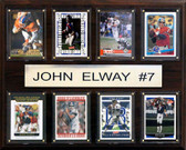 "NFL 12""x15"" John Elway Denver Broncos 8 Card Plaque"
