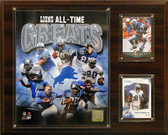 "NFL 12""x15"" Detroit Lions All -Time Great Photo Plaque"
