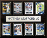 "NFL 12""x15"" Matthew Stafford Detroit Lions 8-Card Plaque"