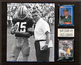 "NFL 12""x15"" Bart Starr & Vince Lombardi Green Bay Packers Player Plaque"