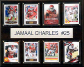 "NFL 12""x15"" Jamaal Charles Kansas City Chiefs 8-Card Plaque"