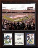 """NFL 12""""x15"""" Sun Life Stadium Stadium Plaque"""