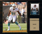 "NFL 12""x15"" Cameron Wake Miami Dolphins Player Plaque"