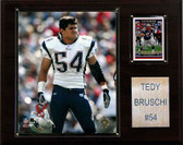 "NFL 12""x15"" Tedy Bruschi New England Patriots Player Plaque"