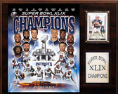 "NFL 12""x15"" New England Patriots Super Bowl XLIXI Champions Plaque"