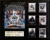 """NFL 16""""x20"""" New England Patriots Super Bowl XLIXI Champions Plaque"""