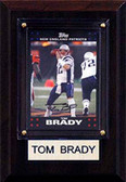 "NFL 4""x6"" Tom Brady New England Patriots Player Plaque"