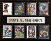 "NFL 12""x15"" New Orleans Saints All-Time Greats"