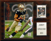 "NFL 12""x15"" Jimmy Graham New Orleans Saints Player Plaque"