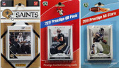 NFL New Orleans Saints Licensed 2011 Score Team Set With Twelve Card 2011 Prestige All-Star and Quarterback Set