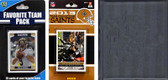 NFL New Orleans Saints Licensed 2013 Score Team Set and Favorite Player Trading Card Pack Plus Storage Album