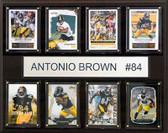 "NFL 12""x15"" Antonio Brown Pittsburgh Steelers 8-Card Plaque"