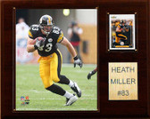 "NFL 12""x15"" Heath Miller Pittsburgh Steelers Player Plaque"