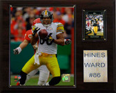 """NFL 12""""x15"""" Hines Ward Pittsburgh Steelers Player Plaque"""