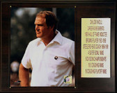"NFL 12""x15"" Chuck Noll Pittsburgh Steelers Career Stat Plaque"