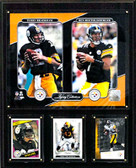 "NFL 12""x15"" Bradshaw-Roethlisberger Pittsburgh Steelers Legacy Collection Plaque"